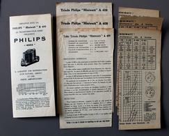 9 Descriptifs Miniwatt B405-A409-A410N-B403Philips - Supplies And Equipment