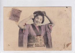 GEISHA FEMME WOMAN MUJER TYPICAL KIMONO. CIRCA 1900's JAPAN- BLEUP - Kostums