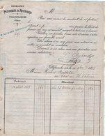 VP12.425 - Facture - Doublures PEIGNAUX & REYBARD à VILLEFRANCHE ( Rhône ) - France