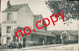 TOURS (37) La Route De Chinon - Café ST JEAN - Très Rare - Très Belle Carte Postée - Tours