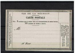 LCA7- REUNION CP PRECURSEUR ACEP N° 2 REPIQUAGE DE LA POSTE DE ST DENIS VARIETE DEFAUT IMPRESSION AU COIN SUP. DROIT - Reunion Island (1852-1975)