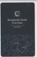 HOTEL KEYS - 1884 - HUNGARY - KEMPINSKI HOTEL CORVINUS BUDAPEST - Hotel Keycards