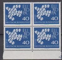 BRD 1961 MiNr. 368x 4er Block** Postfr. EUROPA ( 6891 )günstige Versandkosten - BRD