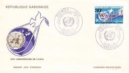 GABON - FDC 30F 1970 UNO Mi #377 - Gabon