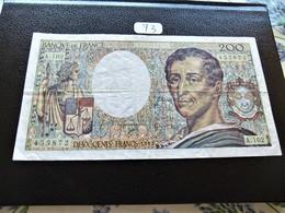 200 FRANCS MONTESQUIEU 1992 SERIE A 102 TB (73) - 1962-1997 ''Francs''