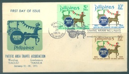 PILIPINAS - 21.1.1971 - FDC - PATA - Yv 805-807 - Lot 17193 - Philippines