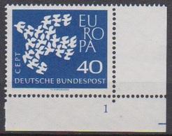 BRD 1961 MiNr. 368x Formnr.1** Postfr. EUROPA ( 6893 )günstige Versandkosten - BRD