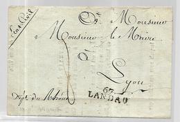 Lettre De La Mairie De Landau ( état Civil) Annonçant  Le Décès à L'Hôpital Militaire D'un Habitant De Lyon 03 04 1807 - Marcophilie (Lettres)