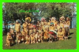 INDIENS - TROUPE DE OJIBWA INDIANS FRON ONTARIO - PHOTO BY H.R. OAKMAN - - Native Americans