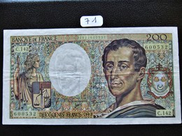 200 FRANCS MONTESQUIEU 1992 SERIE C.142  TB (71) - 1962-1997 ''Francs''