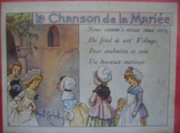 Chanson De La Mariée Edité Par L'alcool De Menthe Ricqles - Alcools