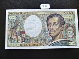 200 FRANCS MONTESQUIEU 1992 SERIE M.143 TB (70) - 1962-1997 ''Francs''