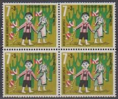 BRD 1961 MiNr. 369 4er Block** Postfr. Wohlfahrt: Hänsel Und Gretel ( 6900 )günstige Versandkosten - BRD