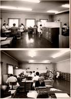 2 Grandes Photos Originales Bureaucrates Dans Leurs Open Space Vers 1960/70 - Machine à écrire & Armoires à Dossiers - Professions
