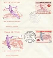 Wallis Et Futuna 2 FDC 1976 Yvert  Série PA 72 Et 73 - Jeux Olympiques Montréal - Sports - FDC