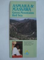 ASMARA & MASSAWA. GREEN MOUNTAINS RED SEA - ETHIOPIA, 1990 APROX. TRI-FOLD. MINT CONDITION. - Tourism Brochures