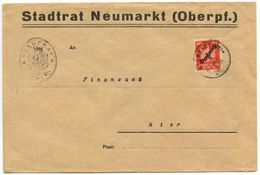 Germany 1926 Official Cover Neumarkt - Stadtrat Neumarkt To Finanzamt, Scott O55 - Germany