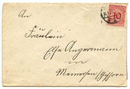 Germany 1924 Cover W/ Scott 325 - 10pf. Numeral - Germany
