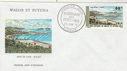 Wallis Et Futuna FDC 1976 Yvert  PA 69 Avec Cachet Premier Jour  Bicentenaire Etats Unis Sigave - FDC