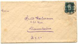 Germany 1924 Cover Konstanz To Mannheim, Scott 340 Dr. Heinrich Von Stephan - Germany