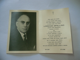 LUTTINO DEATH CARD  Ministro Della Repubblica Democrazia Cristiana Lorenzo Spallino - Religione & Esoterismo