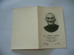 LUTTINO DEATH CARD  SACERDOTE EMILIO RATTI ALBAVILLA PARROCO DI CLAINO COMO 1969 - Religione & Esoterismo