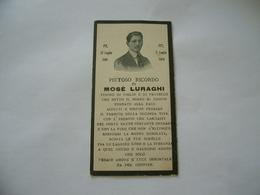 WW1 LUTTINO DEATH CARD  MOSè LURAGHI 1918 - Religione & Esoterismo