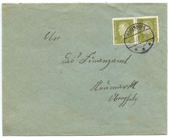 Germany 1932 Cover Hohenburg To Neumarkt - Finanzamt, Scott 369 Pair - Germany