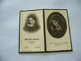 WW2  LUTTINO DEATH CARD  MERONI ANGELA 1943 - Religione & Esoterismo