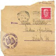 Germany 1929 Cover Front Minden To Bünde, Scott 374 Hindenburg - Germany