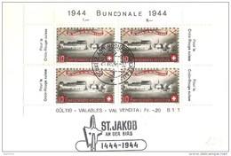 Schweiz Suisse: ST.JAKOB AN DER BIRS 1444-1944 Mit Zu PP23 Mi 432 Yv 396 (mit Eckrand 4-seitig !!) Nach Oberstammheim - Lettres & Documents