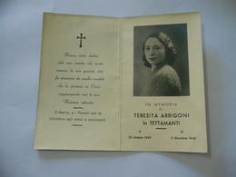 WW2  LUTTINO DEATH CARD  TERESITA ARRIGONI 1940 - Religione & Esoterismo