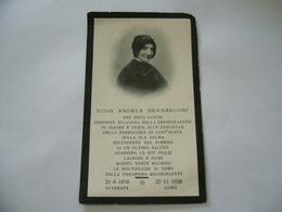 WW2  LUTTINO DEATH CARD  SUOR ANGELA BERNASCONI GUANZATE-COMO 1938 - Religione & Esoterismo