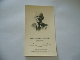 LUTTINO DEATH CARD BERNASCONI ANTONIO ERBORISTA CIVIGLIO COMO 1963 - Religione & Esoterismo