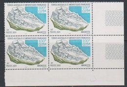 TAAF 2001 Mineral / Magnetite 1v Bl Of 4 (corner)  ** Mnh (39210N) - Terres Australes Et Antarctiques Françaises (TAAF)