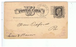 CPA-1883-USA-POSTAL CARD-ENTIER POSTAL-GEO.T.GAMBRILL & CO-CACHETS-7,5 X 13 Cm-2 - ...-1900