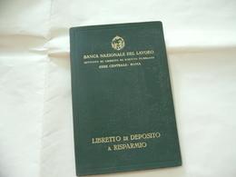 WW2 LIBRETTO DI DEPOSITO A RISPARMIO BANCA NAZIONALE DEL LAVORO FILIALE DI COMO 1942. - Banca & Assicurazione