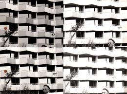 Grande Photo Originale Photographe Amateur Otto Stenberg - 4 Tirages En 1 Architecture Vintage Et Contrastes - Réglages - Places