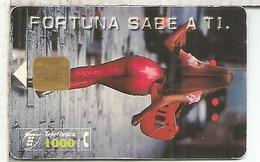 FORTUNA SABE A TI TABACO  1000 PTS TOBACCO - Tarjetas Telefónicas