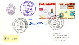Ballonpost 1990 Lettre Illustre Par Ballon De San Marino - Poste Aérienne