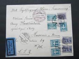 BRIEF Wien - Brno Husovice Segel Flugpost Wien Semmering 1933 ////  D*32639 - 1918-1945 1. Republik