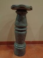 Columna, Pedestal En Mármol Gris. 65 Cm Altura. - Otras Colecciones