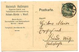 Germany 1924 Postcard Ahle - Heinrich Hellmann To Bünde, Scott 324 - Germany