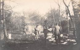 CARTE PHOTO ALLEMANDE  SPA 11  Novembre 1918  DESTRUCTION DE DOCUMENTS Au SERVICE De TRANSMISSIONS - Spa