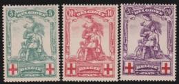 Belgie    .     OBP  .     126/128      .    *      .      Ongebruikt Met Charnier   .   /   .  Neuf  Avec  Charniere - 1914-1915 Croix-Rouge