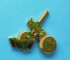 1 PIN'S  //   ** MORTIER RAYÉ / TRACTÉ \ 120 Mm / RTF1 ** . (J.Y. Ségalen Collection) - Militaria