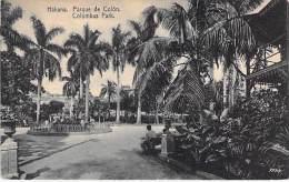 CUBA - HABANA La Havane : Parque De Colon - Colombus Park - CPA  - Caribbean Caraïbes Karibik Caribe Caraibi - Cuba