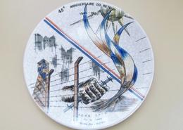 Assiette Patriotique Numérotée 22 Signée GIL Recollet Longwy - Longwy (FRA)