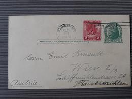 NR 19 - US USA TO AUSTRIA AIRMAIL POSTAL HISTORY POSTCARD 1928 - United States
