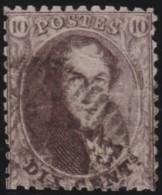 Belgie    .   OBP  .    14   P.  12 1/2      .     O        .      Gebruikt      .  /  .     Oblitéré - 1863-1864 Médaillons (13/16)
